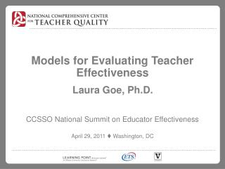Models for Evaluating Teacher Effectiveness
