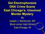 Gel Electrophoresis DNA Crime Scene East Chicago s: Unsolved Murder Mystery