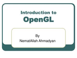 Intoduction to OpenGL