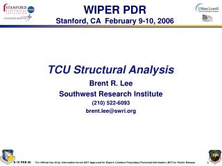 TCU Structural Analysis