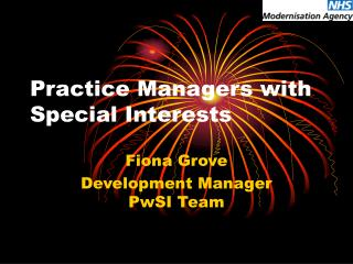 Practice Managers with Special Interests