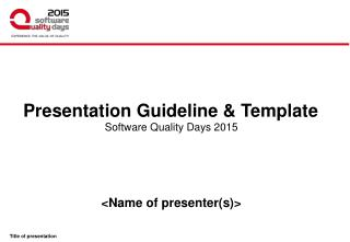 Presentation Guideline & Template