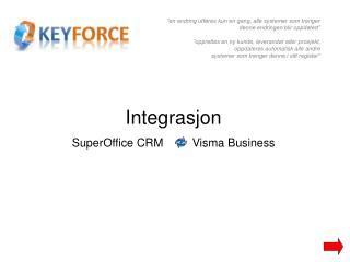 Integrasjon SuperOffice CRM          Visma Business