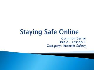 Staying Safe Online