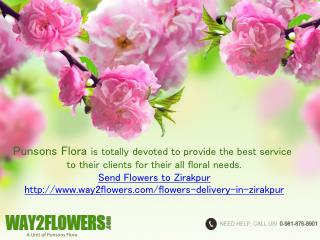 Send Online Flowers Delivery in Zirakpur by Punsons Flora