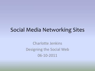 Social Media Networking Sites