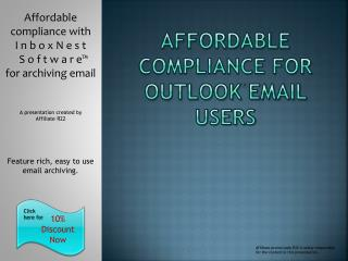 affordable compliance for Outlook Email users