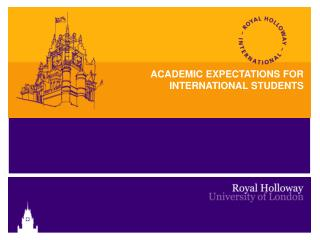 ACADEMIC EXPECTATIONS FOR INTERNATIONAL STUDENTS