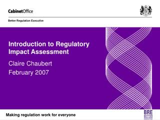 Introduction to Regulatory Impact Assessment