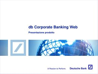 db Corporate Banking Web