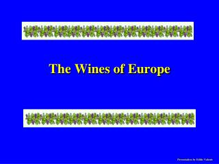 The Wines of Europe