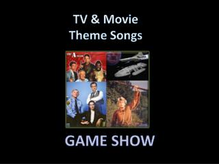TV & Movie Theme Songs