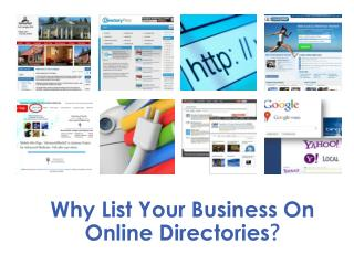 Why List Your Business On Online Directories ?