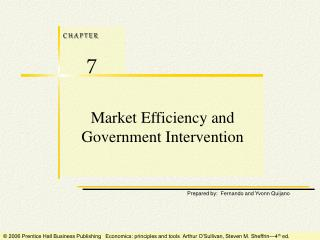 Market Efficiency and Government Intervention