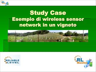 Study Case Esempio di wireless sensor network in un vigneto
