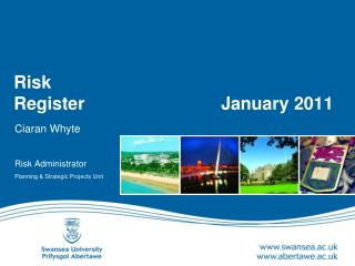 Risk  Register	 		      January 2011