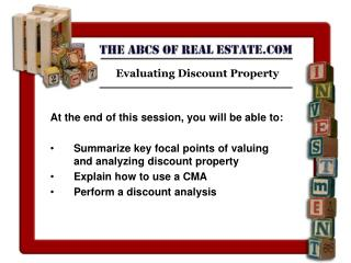 Evaluating Discount Property