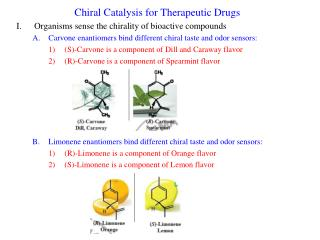 Chiral Catalysis for Therapeutic Drugs