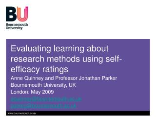 Evaluating learning about research methods using self-efficacy ratings