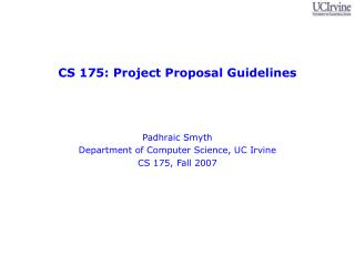 CS 175: Project Proposal Guidelines