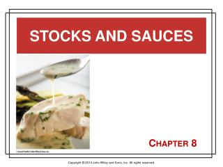 Stocks and Sauces