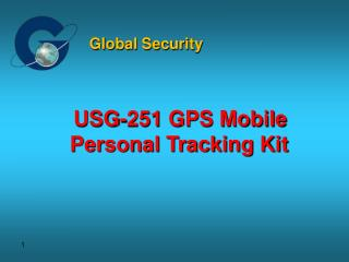 USG-251 GPS Mobile Personal Tracking Kit