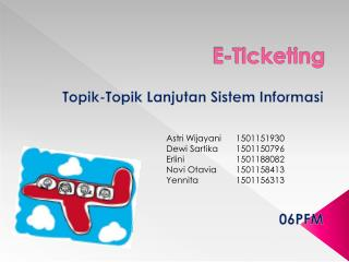 E-Ticketing