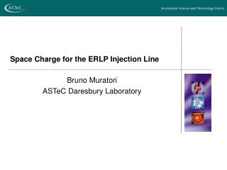 Space Charge for the ERLP Injection Line