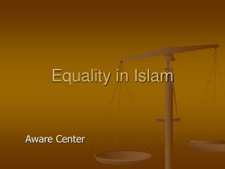Equality in Islam