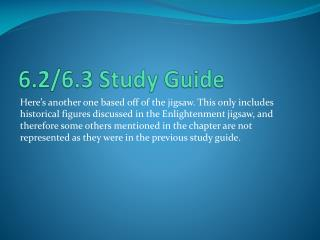 6.2/6.3 Study Guide
