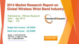Global Wireless Wrist Band Market Size, Share, Study 2014