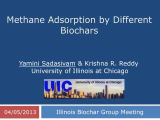 Methane Adsorption by Different  Biochars