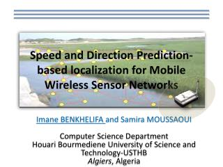 Speed and Direction  Prediction - based localization  for Mobile Wireless  Sensor  Networks