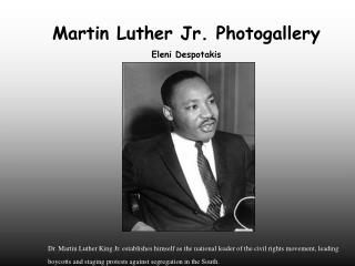 Martin Luther Jr. Photogallery Eleni Despotakis