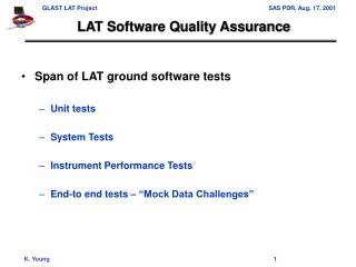 LAT Software Quality Assurance