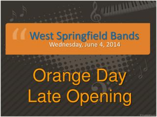 West Springfield Bands
