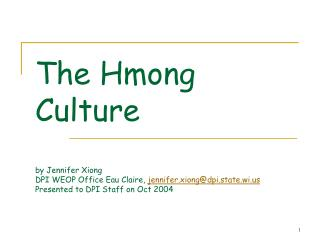 History of the Hmong