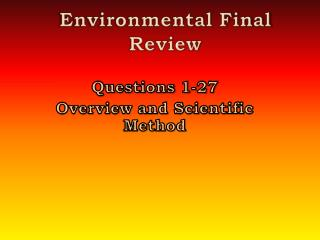 Environmental Final Review