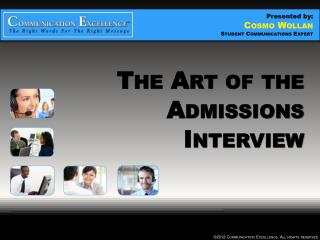 The Art of the Admissions Interview