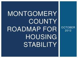 Montgomery county roadmap for housing stability