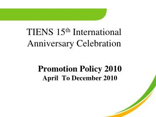 TIENS 15 th  International Anniversary Celebration