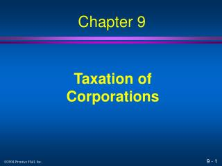 Taxation of Corporations