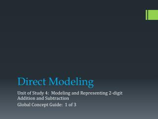 Direct Modeling
