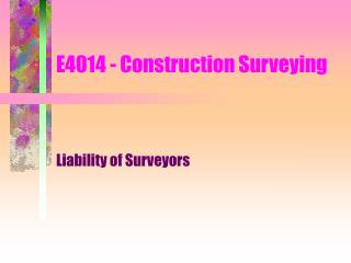 E4014 - Construction Surveying