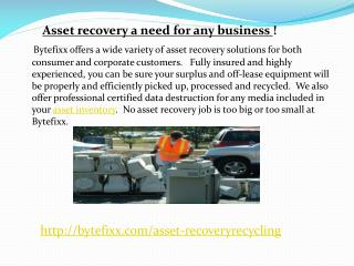 Asset recovery a need for any business !