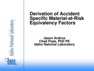 Derivation of Accident Specific Material-at-Risk Equivalency Factors