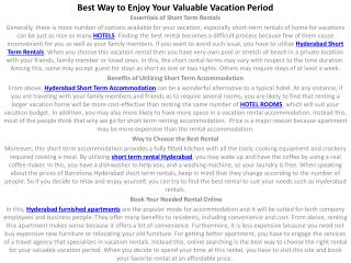 Best Way to Enjoy Your Valuable Vacation Period