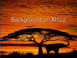 Background on Africa