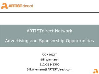 ARTISTdirect Network Advertising and Sponsorship Opportunities