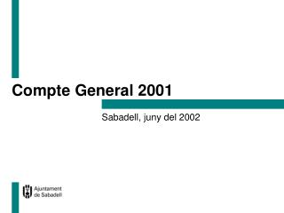 Compte General 2001